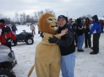Ice Golf 2009 Lion with crowd